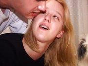 Seks w domowym zaciszu z blondyną